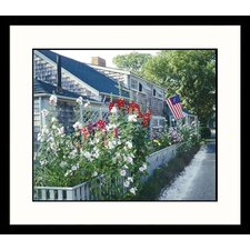 Landscapes Nantucket, Massachusetts Cottage Patriotic Pride Framed Photographic Print
