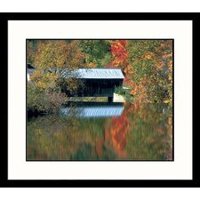 <strong>Great American Picture</strong> Vermont Bridge Framed Photograph