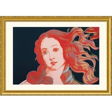 Details of Renaissance Paintings (Sandro Botticelli, Birth of Venus, 1482), 1984 Gold Framed Print - Andy Warhol