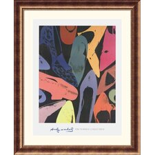 Diamond Dust Shoes, 1980  Bronze Framed Print - Andy Warhol