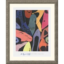 Diamond Dust Shoes, 1980  Silver Framed Print - Andy Warhol