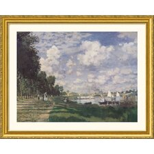 Museum Reproductions 'Bassin at Argenteuil, 1874' by Claude Monet Framed Photographic Print
