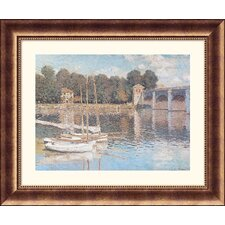 <strong>Great American Picture</strong> Bridge At Argenteuil Bronze Framed Print - Claude Monet