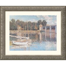 <strong>Great American Picture</strong> Bridge at Argenteuil Silver Framed Print - Claude Monet