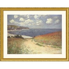 <strong>Great American Picture</strong> Chemin Dans Les Bles a Pourville  Gold Framed Print - Claude Monet