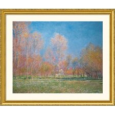 <strong>Great American Picture</strong> Spring in Giverny, 1890  Gold Framed Print - Claude Monet