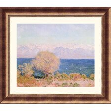 <strong>Great American Picture</strong> View of the Bay at Antibes and the Maritime Alps Bronze Framed Print - Claude Monet