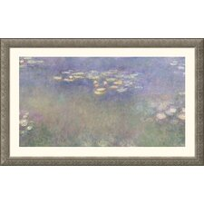 Museum Reproductions 'Water Lilies (Nympheas) 1916-26 Water Lilies and Nymphaeas' by Claude Monet Framed Painting Print