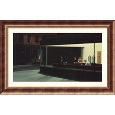 Nighthawks Bronze Framed Print - Edward Hopper