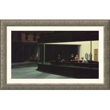 Nighthawks Silver Framed Print - Edward Hopper