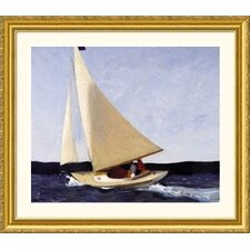 Sailing Gold Framed Print - Edward Hopper