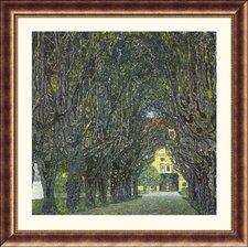 Museum Reproductions 'Allee im Park von Schloss Kammer' by Gustav Klimt Framed Painting Print