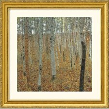 Birch Forest Gold Framed Print - Gustav Klimt