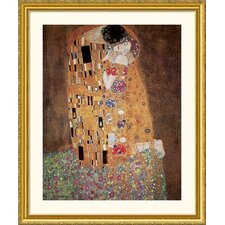 Museum Reproductions 'The Kiss (Le Baiser / Il Baccio), 1908' by Gustav Klimt Framed Painting Print