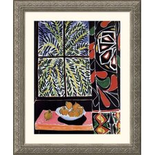 Interior with Egyptian Curtain Silver Framed Print - Henri Matisse
