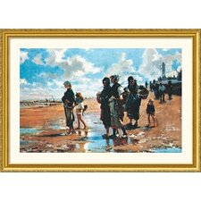 Museum Reproductions 'Oyster Gatherers of Cancale, 1878' by John Singer Sargent Framed Painting Print