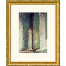 Woman in Doorway Gold Framed Print - John Singer Sargent