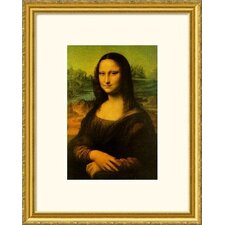 Museum Reproductions 'Mona Lisa' by Leonardo da Vinci Framed Painting Print
