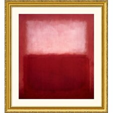 Museum Reproductions 'Over' by Mark Rothko Framed Painting Print