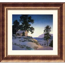 Evening (Winterscape), 1953 Bronze Framed Print - Maxfield Parrish