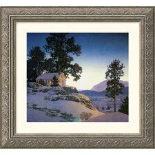 Evening (Winterscape), 1953 Silver Framed Print - Maxfield Parrish