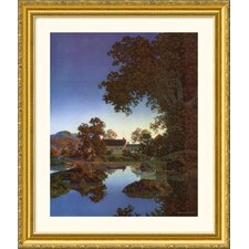 Evening Shadows Gold Framed Print - Maxfield Parrish