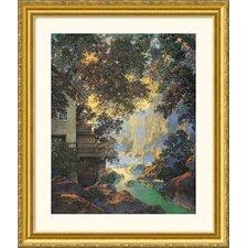 Old Oak Glen Gold Framed Print - Maxfield Parrish
