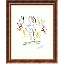 Dance of Youth Bronze Framed Print - Pablo Picasso