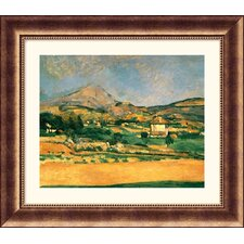 Museum R'A View Over Mont St. Victoire' by Paul Cezanne Framed Painting Print