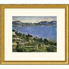 Museum Reproductions L'Estaque by Paul Cezanne Framed Painting Print