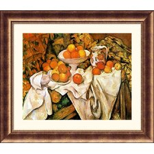 <strong>Great American Picture</strong> Pommes et Oranges (Apples and Oranges) Bronze Framed Print - Paul Cezanne