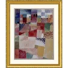 Museum Reproductions Motiv Aus Hammamet by Paul Klee Framed Painting Print
