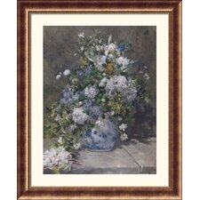 Museum Reproductions 'Spring Bouquet, 1866' by Pierre Auguste Renoir Framed Painting Print