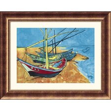 Museum Reproductions 'Boats' by Vincent Van Gogh Framed Painting Print