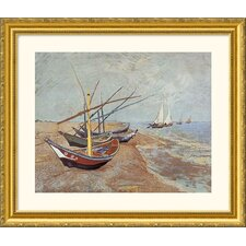Boats at Saint-Maries, 1888 Gold Framed Print - Vincent van Gogh