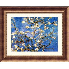 Museum Reproductions Branches l'Ammandier en Fleur by Vincent Van Gogh Framed Painting Print