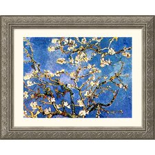 Museum Reproductions 'Branches l'Ammandier en Fleur' by Vincent Van Gogh Framed Painting Print