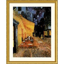 <strong>Great American Picture</strong> Cafe Terrace At Night Gold Framed Print - Vincent van Gogh
