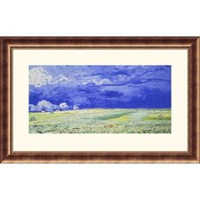 <strong>Great American Picture</strong> Field Under a Stormy Sky Bronze Framed Print - Vincent van Gogh