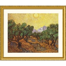 The Olive Trees Gold Framed Print - Vincent van Gogh