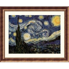 Museum Reproductions 'The Starry Night' by Vincent Van Gogh Framed Painting Print