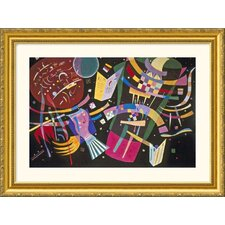 Composition X Gold Framed Print - Wassily Kandinsky
