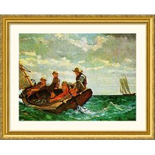 Breezing Up Gold Framed Print - Winslow Homer