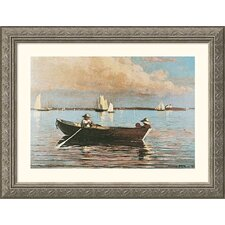 Museum Reproductions 'Gloucester Harbor' by Winslow Homer Framed Painting Print