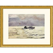 <strong>Great American Picture</strong> Rowing Home Gold Framed Print - Winslow Homer