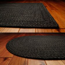 Ultra-Durable Black Solid Indoor/Outdoor Rug