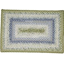 Cotton Braided Seascape Rectangular Rug