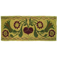 <strong>Homespice Decor</strong> Hooked Padula Flowers Rug