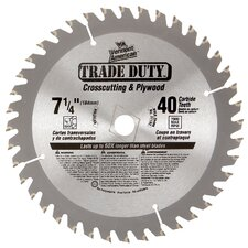 "7-1/4"" 40 TPI Trade Duty™ Carbide Tipped Circular Saw Blade 26"