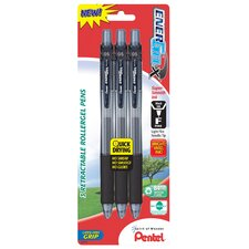 0.5 mm Needle Point Gel Pen in Black (Set of 6)